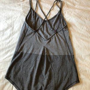 lululemon athletica Tops - Lululemon Strappy Criss Cross Stripe Tank - Grey